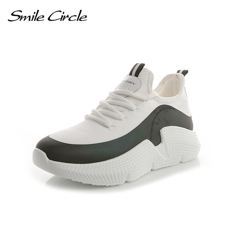 Spring Summer Sneakers Women Cotton fabric breathable outdoor casual shoes Women Flat shoes tenis feminino 2018 Smile Circle instantarts women flats emoji face smile pattern summer air mesh beach flat shoes for youth girls mujer casual light sneakers