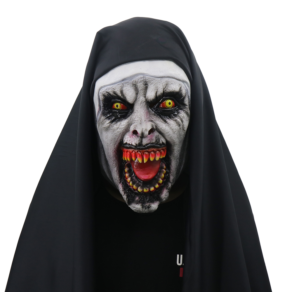 the nun valak cosplay mask latex horror masks halloween props party