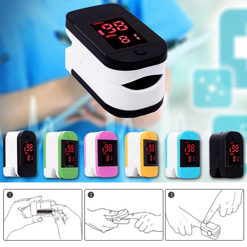 Finger Pulse Oximeter With Case Fingertip Oximetro De Pulso De Dedo LED Pulse Oximeters Saturator Pulsioximetro