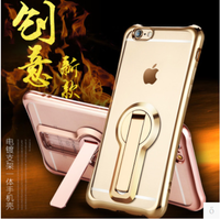 Luxury 360 Degree Rotating Bracket Case For Iphone 7 6 6s Anti Knock Ultra Thin Clear