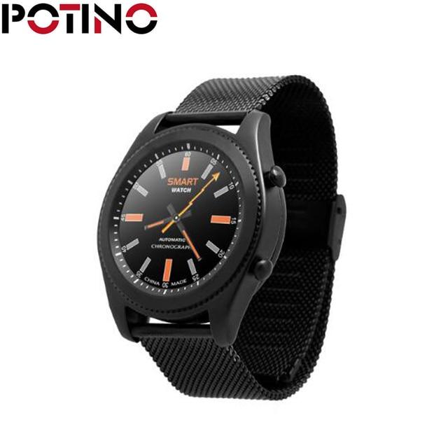 22bdab98ec75 € 46.09 |Potino S9 smartwatch teléfono MTK2502C ritmo cardíaco Monitores  Bluetooth 4.0 brazalete de reloj inteligente dispositivos Wearable para ...