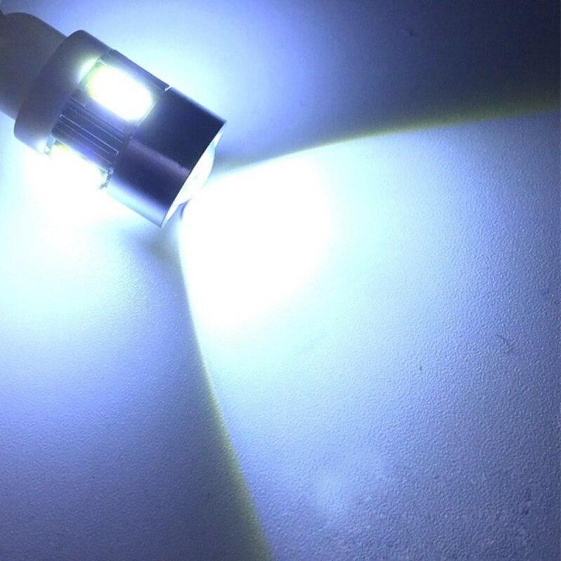 Нов стил практичен 10бр T10 W5W интериор ксенон бяло синьо червено LED CANBUS 6SMD 5630 обектив проектор плътни алуминиеви крушки отстрани мар