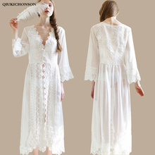 Embroidery White Sheer Nightgown Bridesmaids Princess Long S