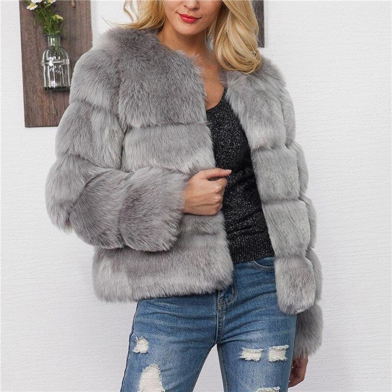 gray Chaud black Courte Veste Fluffy 2018 Renard Coat Xxxl Épaissir Vestes De Manteau Pardessus Mode Femelle Manteaux Fourrure Pink Faux Fausse Fur D'hiver Coat Rose Coat Femmes 4gOq0Zg