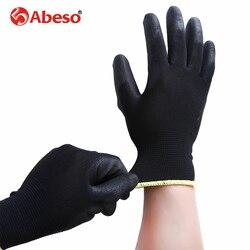 ABESO 2/10 pairs Schwarz Nylon & PU palm beschichtete elektronische Anti-statische Handschuhe Mit PU Antistatischen Arbeit Handschuh A4005