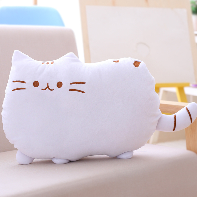 2017 Hot Arpa Pusheen Cat Stuffed Plush Toys Lovely Biscuits Tail Kitten Pillow 40*30cm Kawaii Brinquedos With PP Cotton WW210