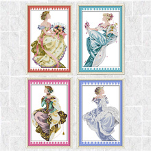 Needlework DIY DMC Cross stitch Sets For Embroidery kits Four Seasons Queen Patterns Counted Cross-Stitching Home Decoration mnls diy dmc 3d cross stitching 0088
