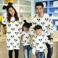 Ropa de la familia camiseta ocasional de la historieta ropa a juego madre / madre e hija ropa a juego de la familia conjunto de estilo PRI43