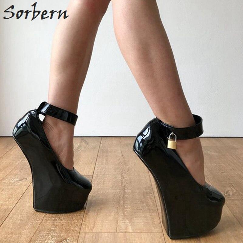 Tobillo Mujeres Sorbern De Plataforma 2019 Talones Tacón En Alto custom Nuevo Las Color Zapato El Correa Plataformas Hebillas Mujeres Zapatos Señoras Sexy Black qqrpFt