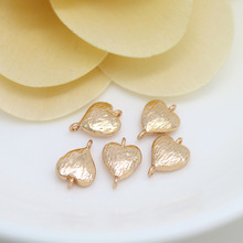 6PCS 7.5x11MM 24K Champagne Gold Color Plated Brass 2 holes Heart Charms Connect Charms High Quality Diy Jewelry Accessories бензиновый снегоуборщик huter sgc 4100
