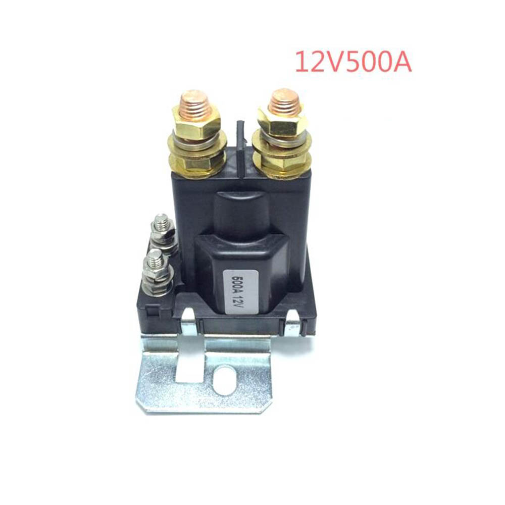 1PC 12V/24VDC 500A AMP 4 Pin Relay On/Off Car Auto Power Switch Plastic Double Batteries Isolator for Forklift Engineering 1pc automotive dual batteries isolator 12v 500a amp car auto power battery manager power protector smart bidirectional control