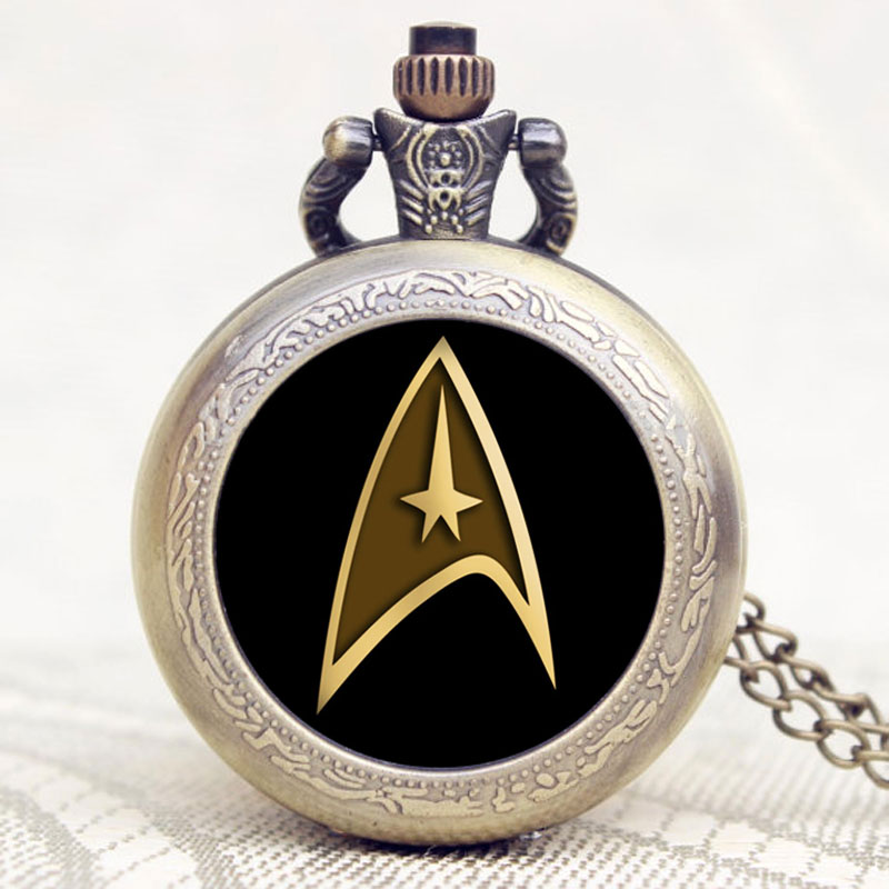 Hot Theme Star Trek Pocket Watch Pendant Necklace Quartz Men Watches High Quality Free Shipping P1132 personal computer graphics cards fan cooler replacements fit for pc graphics cards cooling fan 12v 0 1a graphic fan