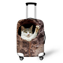 インチ弾性荷物ダストカバーケース伸縮性 18-30 木の穴犬猫デザイントラベルアクセサリースーツケース保護カバー
