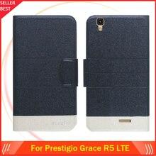5 цветов Лидер продаж! Prestigio Grace R5 LTE 5552 Duo чехол, модный кожаный эксклюзивный чехол-книжка с отделениями для карт