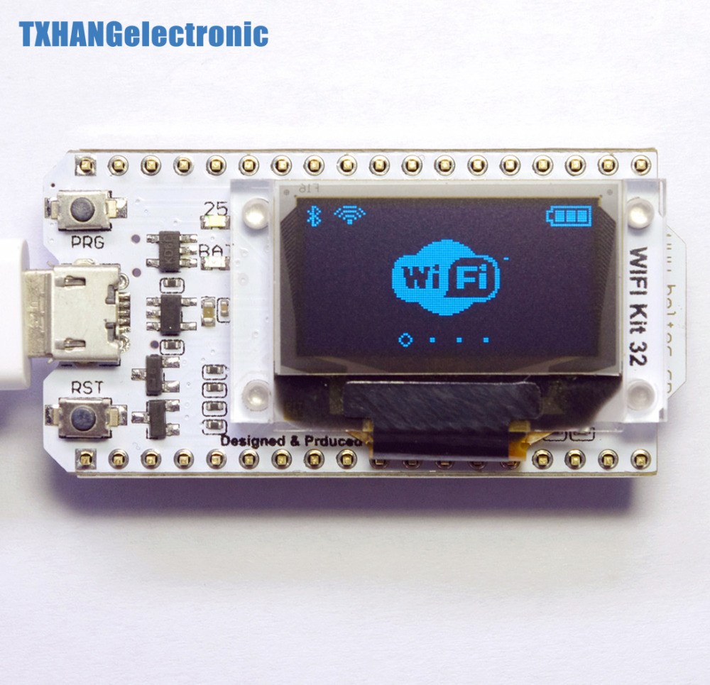 Internet Development Board ESP32 WIFI chip 0.96 inch OLED Bluetooth WIFI Kit CP2102 32M module for arduino