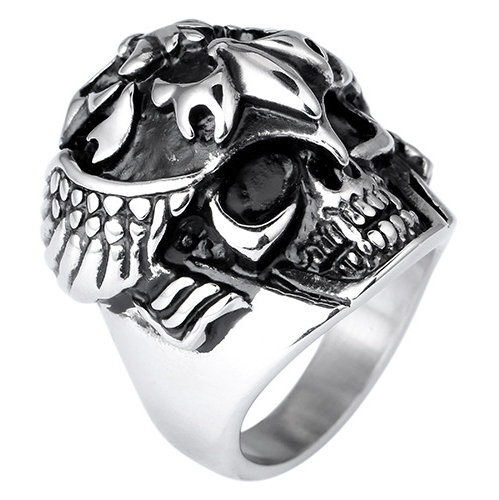 Rocker Skeleton Skull Ring Men Ring