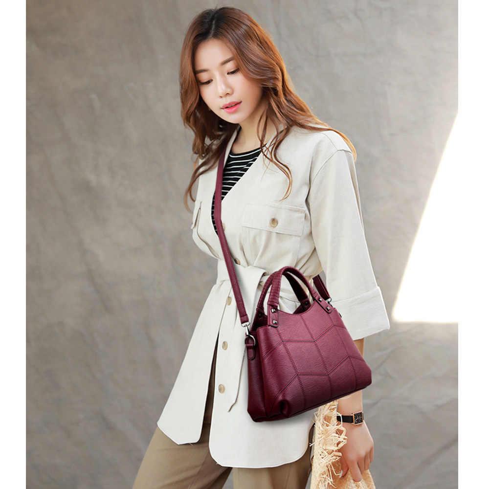 2019 роскошные женские сумки, дизайнерская Брендовая женская кожаная сумка через плечо с верхней ручкой, винтажные женские сумки