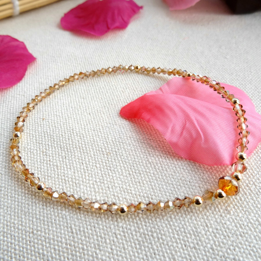 The girl jewelry Austria Crystal Anklet foot font b ring b font foot rope Korean fashion
