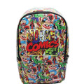 Super hero Backpack PU Leather Marvel Comics computer school Book Bag 42x30x12cm