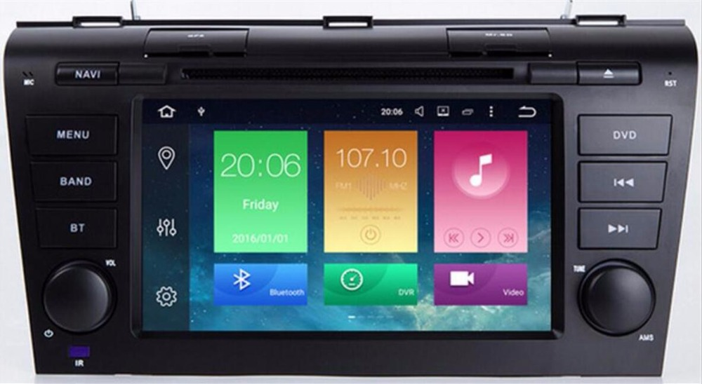 IPS DSP Android 9.0 4G/android 9.0 2 DIN DVD PLAYER PC <font><b>Multimedia</b></font> RADIO SCREEN <font><b>For</b></font> <font><b>MAZDA</b></font> <font><b>3</b></font> MAZDA3 2004 2005 2006 <font><b>2007</b></font> 2008 2009 image