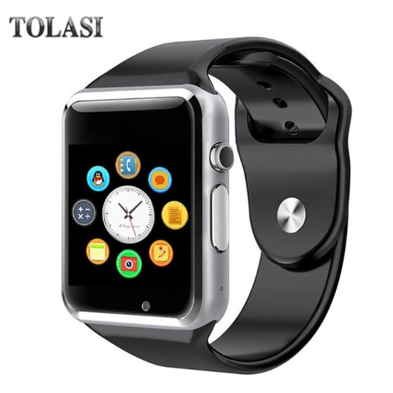 A1 fashion men and women smart watch sync notification device support SIM / TF card Bluetooth Smartwatch PK Q18 DZ09