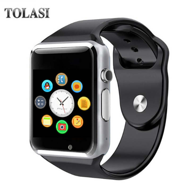 A1 fashion men and women smart watch sync notification device support SIM / TF card Bluetooth Smartwatch PK Q18 DZ09