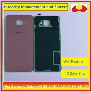 Image 5 - מקורי עבור Samsung Galaxy A5 2016 A510 A510F SM A510F שיכון סוללה דלת אחורי כיסוי אחורי מקרה מארז פגז
