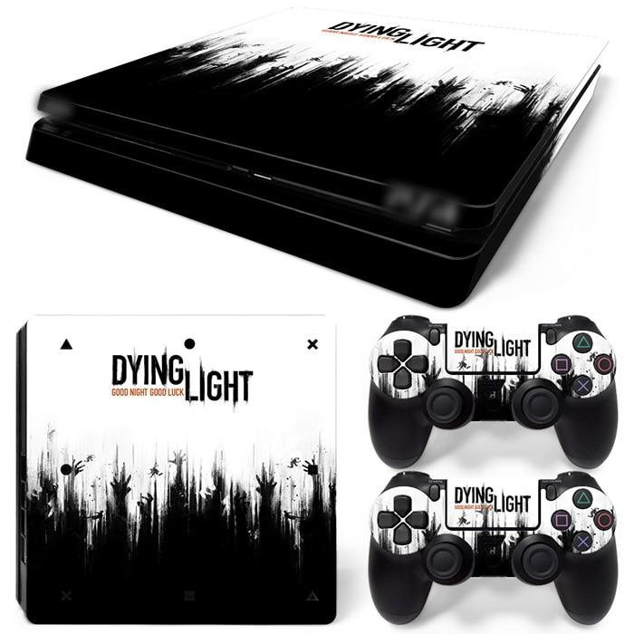 Gratis Drop Shipping Vinyl Decal til PS4 Slim Skin Stickers Wrap til Sony PlayStation 4 Slim Console og 2 Controllers Skins