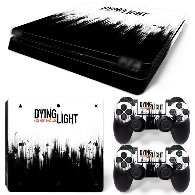 Free drop shipping vinyl decal for ps4 slim skin stickers wrap for sony playstation 4 slim