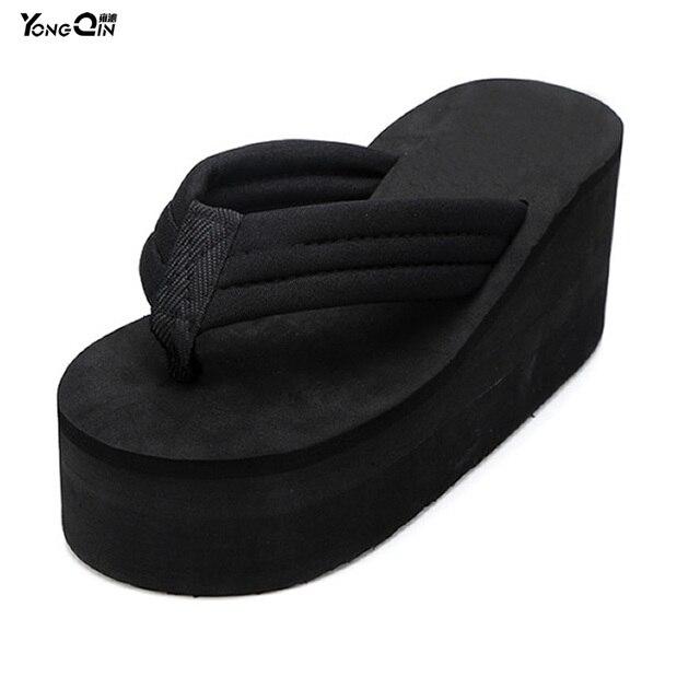 154287c08ee4 794.82 руб. |Летняя мода ультра Высокие каблуки скольжению Босоножки и  сланцы на ...