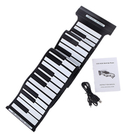 ADDFOO Flexible 88 Keys USB Flexible Roll up Roll-up Electronic Piano Keyboard Professional
