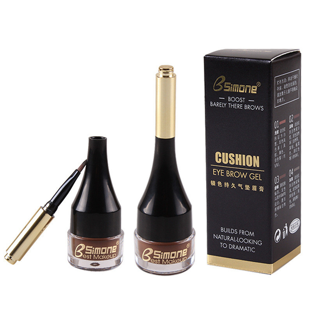 4 Color Eyebrow Cream Enhancers Long-lasting Waterproof Air-cushion Dye Eye Brows Gel Brown Tinted Liquid Eyebrows Tint Makeup 3