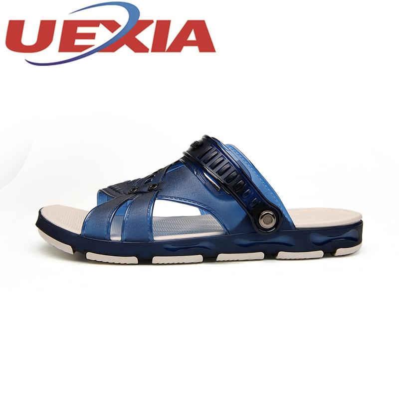 Большой размер 45 летние пляжные сандалии для Для мужчин открытый Повседневные шлепанцы Обувь модные Пляжные сланцы Направляющие Сандалии ...