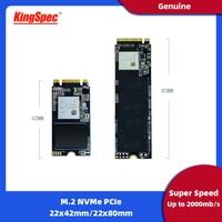 KingSpec M2 SSD PCIe 120GB 240GB 1tb ssd ssd m2 2242 NVMe SSD NGFF M.2 ssd 2280 PCIe NVMe Internal SSD Disk For Laptop Desktop