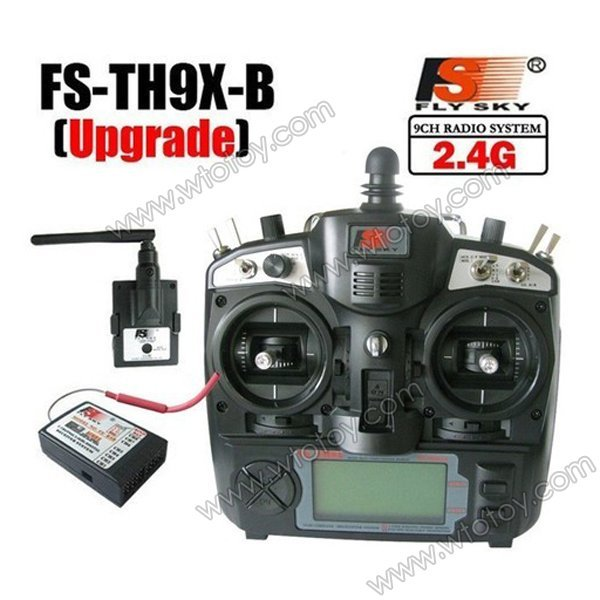 FlySky 2.4Ghz 9CH FS-TH9X-B/TH9B TX Transmitter & FS-R8B Receiver Radio Control for RC fpv Quadcopter th 900