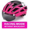 Victgoal capacete de bicicleta mountain bike, capacete de luz para ciclismo moldado integralmente à prova de vento com óculos de proteção 24