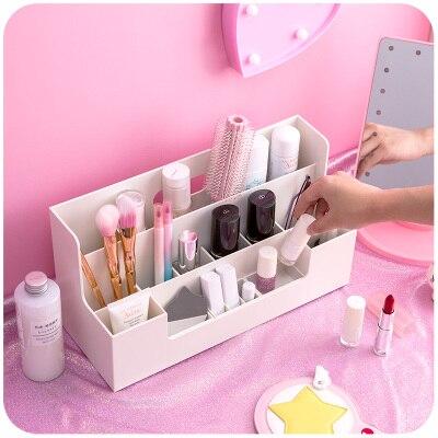 Mode Maquillage Organisateur Pour Cosmétiques Multifonctionnel Table de Bureau Accessoires De Bureau Organisateur Boîte