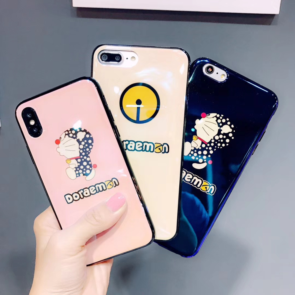 JSPYL Cute Cartoon Doraemon Phone Case For iPhone X Blue Ray Silicone Soft Case Cover For iPhone 7 8 Plus 6 6s Plus Back Fundas