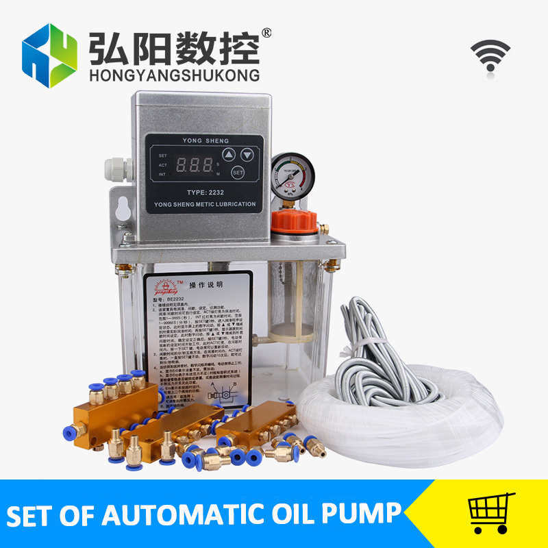 ФОТО Full set 2L Fully Automatic Lubrication Pump 220v Single screen Oil Lubrication Pump for CNC ROUTER