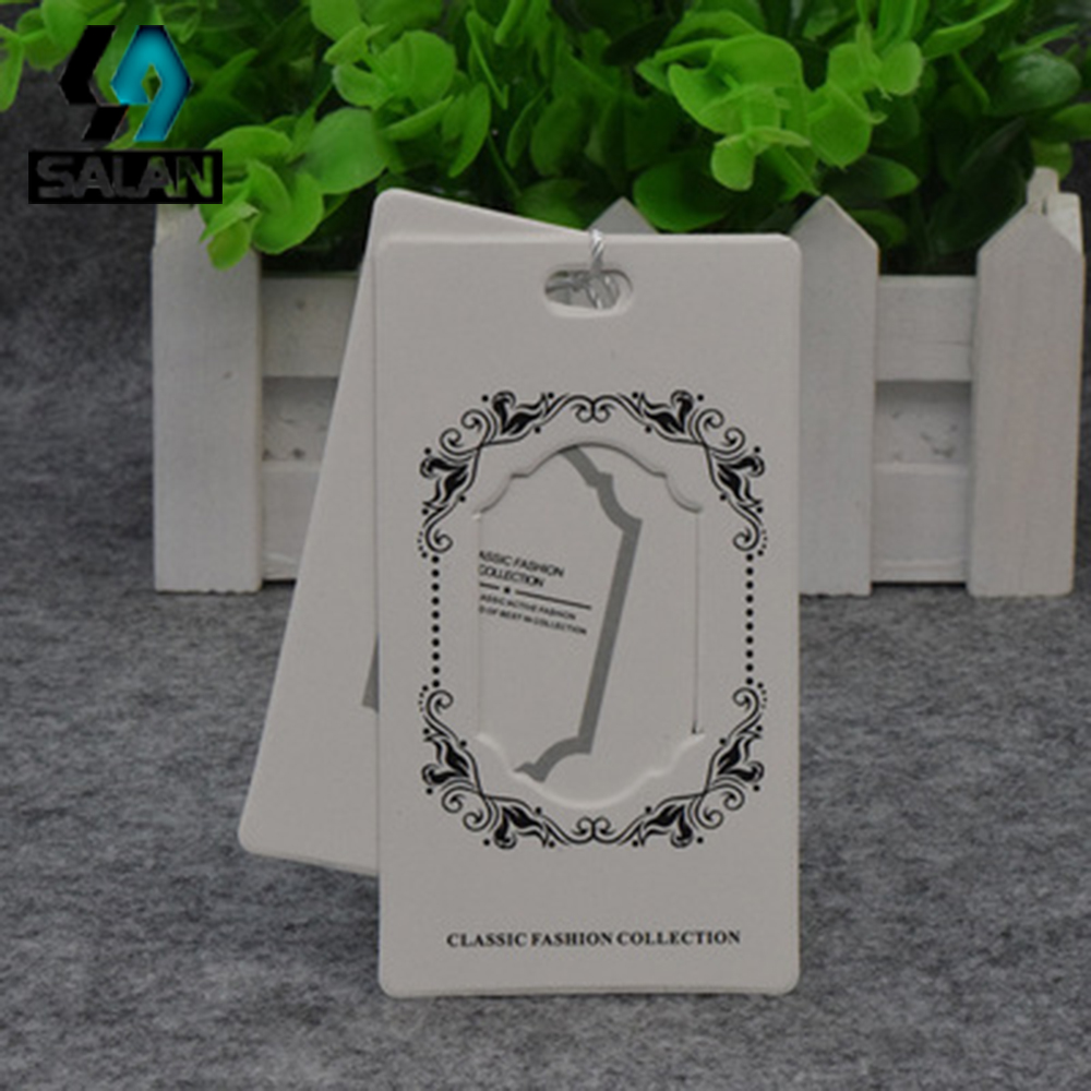 Factory direct sales tag high - end tag women s men s children s clothing tag paper - shaped logo trademark customized