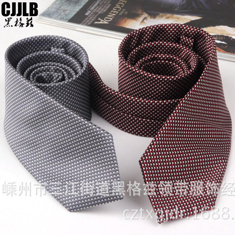 Jacquared Neck Tie 1200 Needles 8cm Men Neck Ties Fashion Small Plaid Necktie Gravata Tie Classic Business Wedding Tie For Men