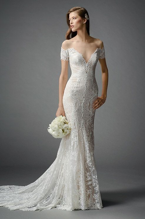 Sheer Backless Short Sleeves Lace Wedding Dresses 2017 Off Shoulder Mermaid Modest Bridal Gown In From Weddings Events On Aliexpress
