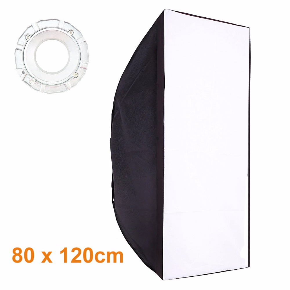 High Quality 80x120cm Studio Softbox With Bowens Mount Soft Box For Flash Light 50x130cm softbox reflector with bowens mount for studio flash photo studio soft box photography accesorios fotografia light box