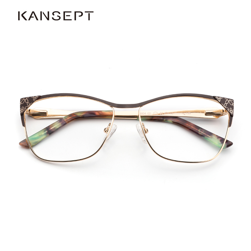 Metal Women Glasses Frame Cat Eye Optical Brand Designer Prescription Glasses Frames Vintage Eyewear Fashion And High Quality