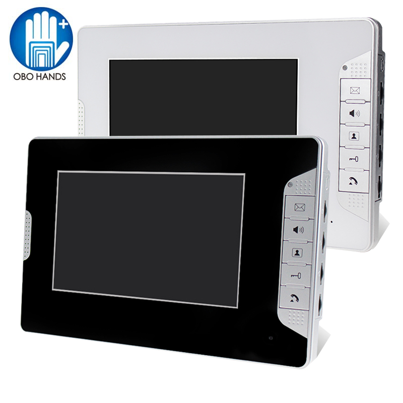 7 TFT Color Video Door Phone Intercom System Video Doorbell Indoor Monitor Unit with 25 Ringtone