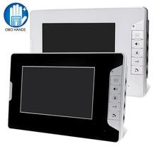 """7 """"TFT Kleur Video Deurtelefoon Intercom Systeem Video Deurbel Indoor Monitor Unit met 25 Ringtone voor Home Appartement veilig V70E"""