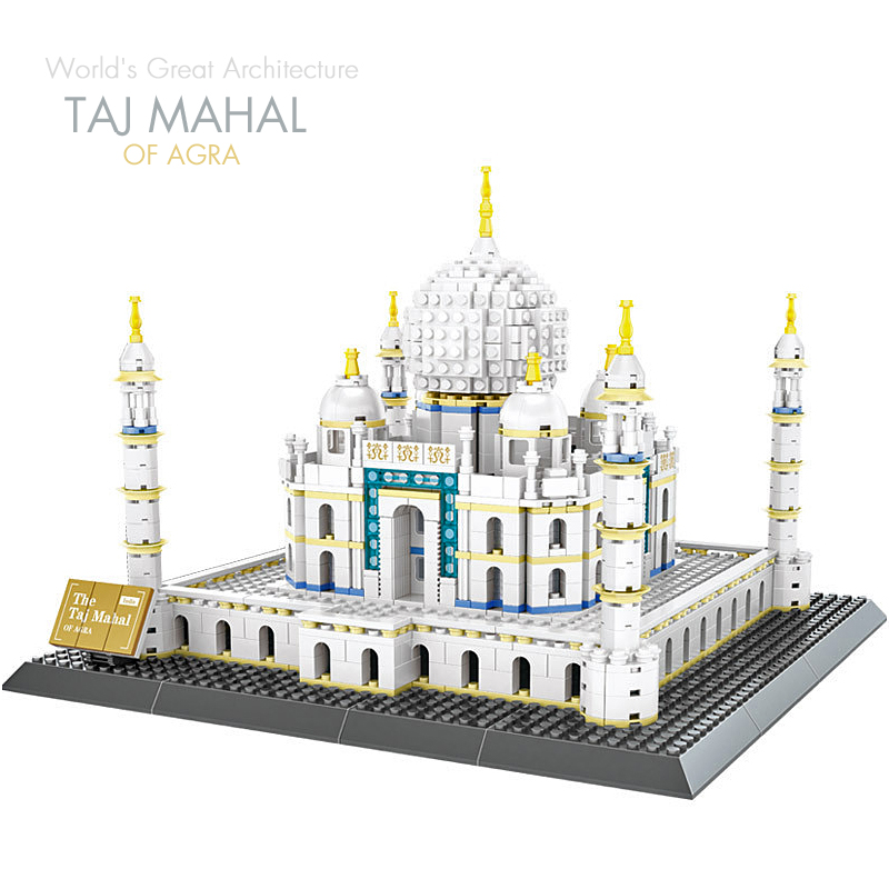все цены на Pandadomik TAJ MAHAL of Agra 1505pcs Building Toy Bricks Blocks Model legoinglys City House Constructor Toys for Children Gifts