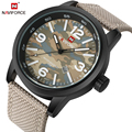 NAVIFORCE Fashion Brand Men's Quartz Watch with Canvas Leather Strap Glow Hands Date Military Sport Watch Male Relogio Masculino
