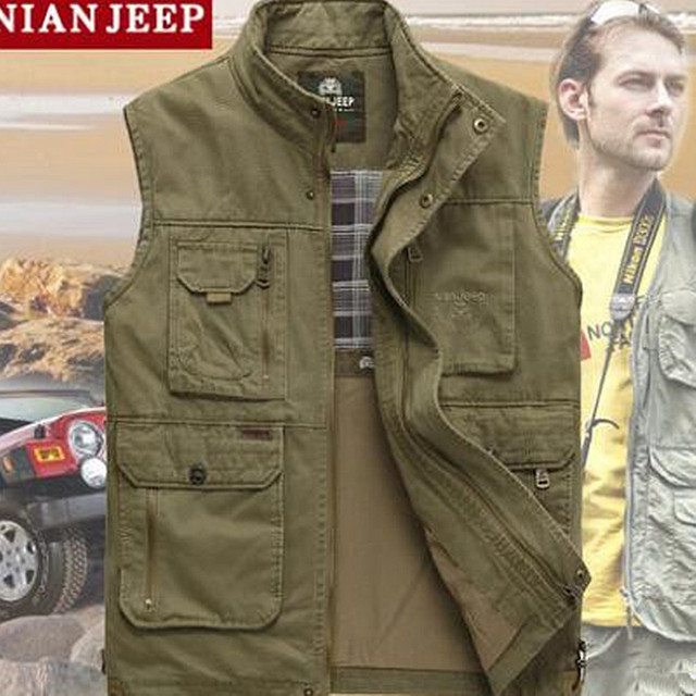The classic 2017 high quality pure cotton JEEP vest Spring and summer leisure Many pocke photography vest men director coat 1