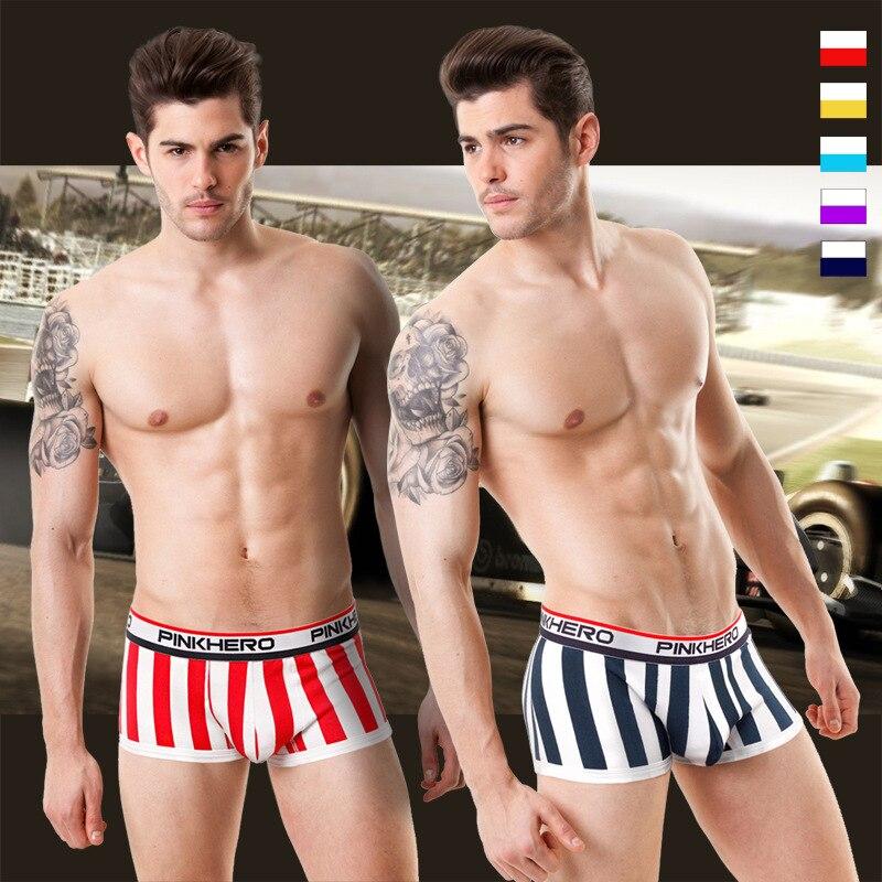 Pink Hero Fashion Underpants Mens Underwear Boxers Men's Boxer Shorts Sexy Male Underwear Men Cueca Masculina Boxer Homme